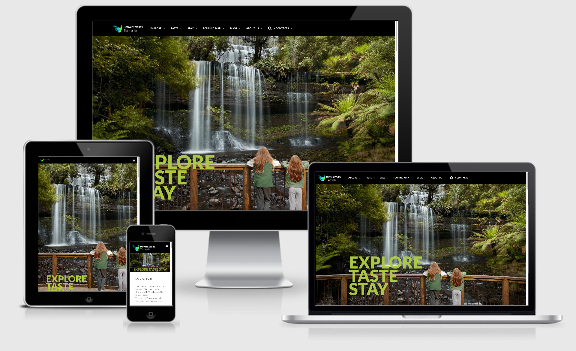Derwent Valley Tasmania client website
