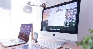 computer desk setup