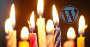 wordpress birthday candles